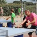 Match de tennis de table au camping de Léveno à Guérande